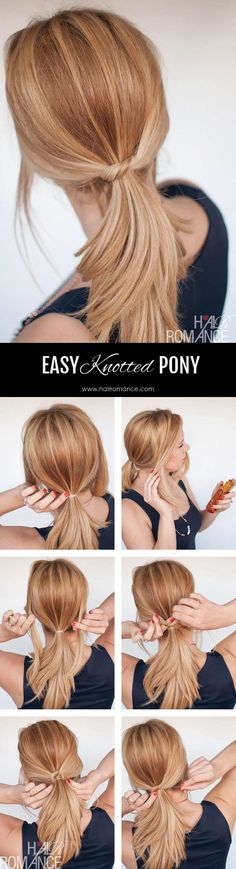 Hair Romance - The easy knotted ponytail tutorial.