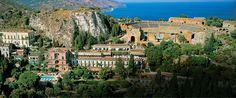 taormina sicily hills | Set high in the rugged hills of Taormina, on Sicily's east coast ...