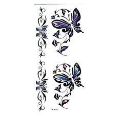 4 Pcs Bright Colored Butterfly Waterproof Temporary Tattoo Stickers $5.99