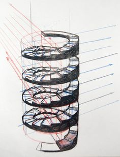Best Draw A Spiral Staircase In Perspective Spiral Stairs 400 x 300