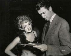 Jimmy Stewart and Marlene Dietrich