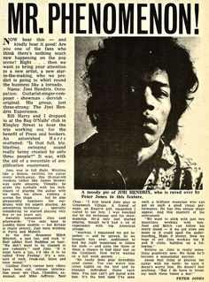 Record Mirror, Jimi Hendrix, December 1966