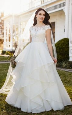 259606a291d Chelsi + Stevie Classic Off-the-Shoulder Wedding Dress Separates by Martina  Liana Cotton