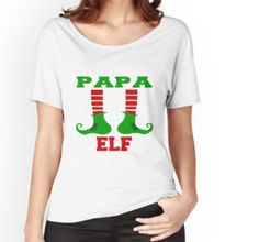 """""""papa elf marry christmas"""" T-Shirts & Hoodies by rissawindaarlia 