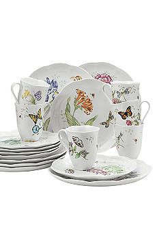 Lenox Butterfly Meadow-dinnerware that my grandmother has that I love! wanting to remember the name...there are different little insects on or inside each piece