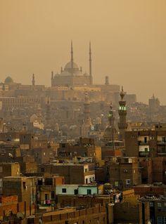 Saladin Citadel above Cairo skyline by اللّهُمـَّآرزُقنآحُـسنَالخَآتِمة on 500px