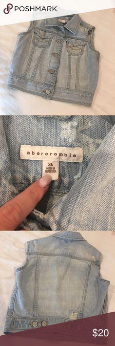 Abercrombie Jean Vest Perfect condition! Kids size... super cute.... size XL abercrombie kids Jackets & Coats Vests