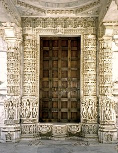 Doorway: Dilwara Jain Temple: Mount Abu, Rajasthan, India