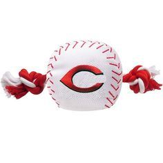 """""""Take me out to the Ball Game"""" .....""""Batter up ...Let's PLAY BALL! """" - Cincinnati REDS Baseball Rope Tug'n Toss Chew Toy Official Cincinnati REDS Licensed Fan GameGear for your Ace Pitcher!. Choose al"""