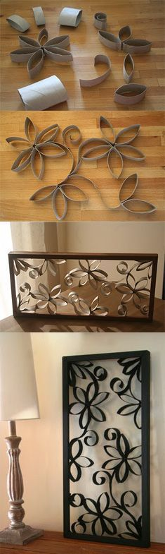 Cómo hacer un lindo cuadro con tubos de cartón