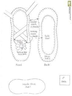 Risultati immagini per molde sapatilha bailarina Cushions To Make, Pin Cushions, Diy Crafts Hacks, Crafts To Make, Craft Patterns, Doll Patterns, Baby Ballet Shoes, Dance Crafts, Shoe Template