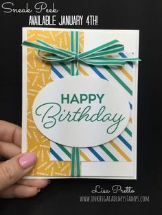 Stampin'Up! Birthday Blast stamp set, sneak peek, 2017 Occasions Catalog, happy birthday, hand stamped, papercrafting, DIY