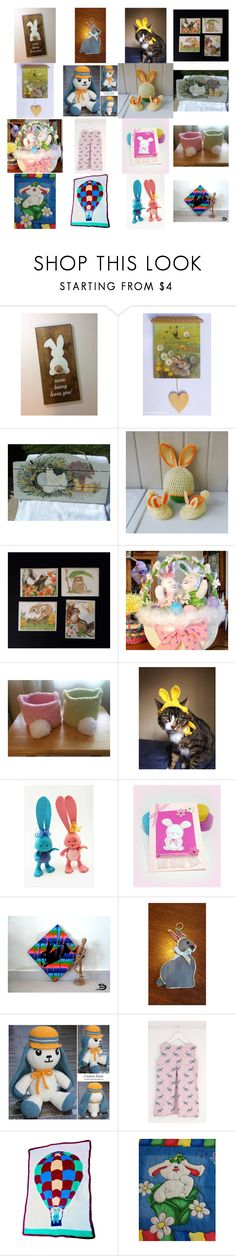 """""""Some Bunny Loves You"""" by kateduvall ❤ liked on Polyvore featuring interior, interiors, interior design, home, home decor, interior decorating, GRETCHEN and vintage"""