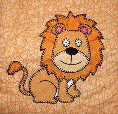 Patrón de apliques PDF de León Animales de safari por MsPDesignsUSA