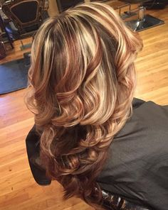 Brown+Hair+With+Chunky+Blonde+Highlights