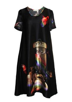 Klements luxury ethical printed womenswear, scarves and interiors. Shift Dress Pattern, Dress Patterns, Black Pin Up, Skull Dress, Pin Up Dresses, Slow Fashion, Cotton Dresses, Women Wear, Short Sleeve Dresses