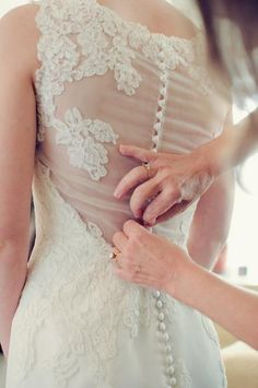 """illusion back with button closures - Anne Barge """"Victoire"""" wedding gown"""