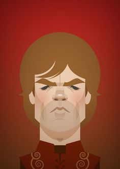 Tyrion Lannister ( Peter Dinklage ) from Game of Thrones - vector illustration by Stanley Chow