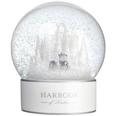 Harrods of London Winter Forest Snowglobe (€56) ❤ liked on Polyvore featuring home, home decor, winter snow globe, deer home decor and forest home decor