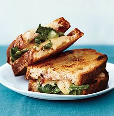 Epicurious - favourite sandwiches. Pictured here: grilled cheese with onion jam, taleggio, and escarole