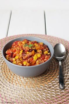 : {Vegan} Chili ohne Carne - dafür mit Bulgur!