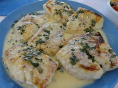 Grilled Grouper with a creamy lemon & herbs sauce
