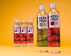 KEEN FRUIT on Packaging of the World - Creative Package Design Gallery (& drink carrier) Juice Packaging, Beverage Packaging, Bottle Packaging, New Fruit, Fruit Juice, Fruit Fruit, Fruit Party, Dressing For Fruit Salad, Bottle Design