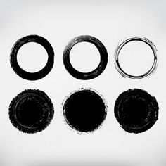 Circles hand painted collection Free Vector