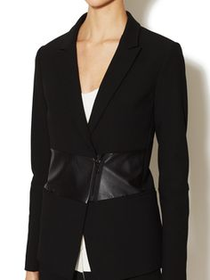 Anson Leather Paneled Jacket from Anti-Trend Moment: Seasonal Staples on Gilt