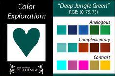 ❤ =^..^= ❤ Eva Maria Keiser Designs: Explore Color:  Deep Jungle Green