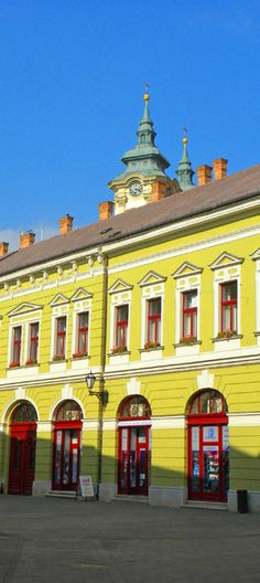 Colorful buildings in Eger: http://bbqboy.net/photo-essay-things-see-eger-hungary/ #eger #hungary