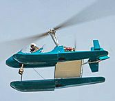 A shot from below of the worlds first amphibious MTO Sport. This gyrocopter is based in Florida.