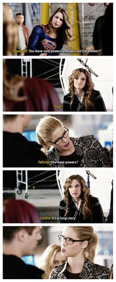 Caitlin, Kara and Felicity