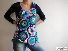 free form crocheting vest if interested, please contact me