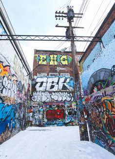 Graffiti alley, Baltimore, MD.