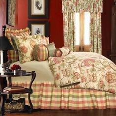 Rose Tree Summerton Full Comforter Set Includes 1 Comforter 1 S. Bedroom Bed, Home Decor Bedroom, Bedroom Ideas, Master Bedroom, Beautiful Bedding Sets, Beautiful Beds, Beautiful Bedrooms, Full Comforter Sets, Floral Comforter