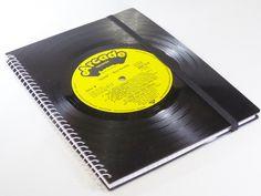 Notizbuch, Schallplatte, ELVIS  von VinylKunst Aurum - Schallplatten Upcycling der besonderen ART auf DaWanda.com