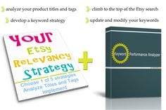 This is an amazing deal from Handmadeology! 50% off Your Etsy Relevancy Strategy AND Keyword Analyzer.