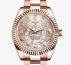Swiss Rolex Sky-Dweller Rose Gold Casing Rose Gold Dial Automatic Replica Watch