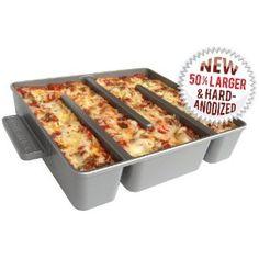 baker's edge lasagna pan - every piece has edges