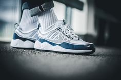 3d5c24d87047 Nike Air Zoom Spiridon White   Dark Blue