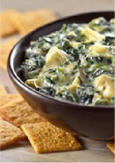 ***This was an amazing dip!!! But it would be best to leave it in a warmer. As it cooled it thickened.*** VELVEETA Queso Blanco Spinach & Artichoke Dip – This 15-minute VELVEETA Queso Blanco Spinach & Artichoke Dip is a dip trifecta. You're making everyone's top three favorite dips—all in one tasty bowl!