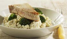 Romige risotto met gegrilde tonijn