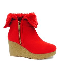 For MOM! Love this Red Zip Crepe Bootie on #zulily! #zulilyfinds