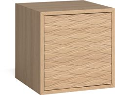 Case 1 x 1 Reolmodul med harlekindør – 35 cm OOOJA Finér Hvitpigmentert eik Easy To Love, Scandinavian Design, Filing Cabinet, The Unit, Wood, Inspiration, Furniture, Storage Units, Cosmopolitan