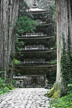 The Five Story Pagoda, Mount Haguro, Yamagata, Japan