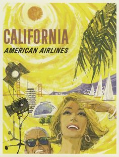 American Airlines to California, 1960.