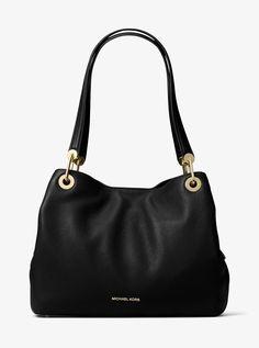 a4c94a360e Michael Kors Raven Large Leather Shoulder Bag - Acorn One Sizexns Michael  Kors Tote