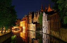 Evening Lights, Bruges, Belgium photo via fyeurope Most Beautiful Cities, Beautiful Buildings, Wonderful Places, Places To Travel, Places To See, Rest Of The World, Ultimate Travel, Bruges, Adventure Is Out There