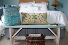 Love this fun beach look...Adorable pillow from Willow House...www.denisecosgrove,willowhouse.com
